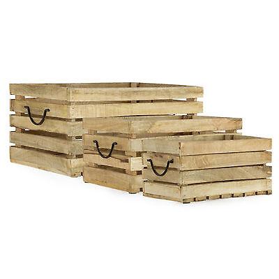 Holzkisten Set Shabby Chic 3 tlg. max. 41.5 x 30,5 cm / Dekoration, Dekokisten