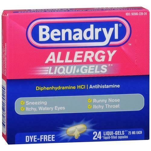 3 packs 72 liqui gels antihistamine allergy