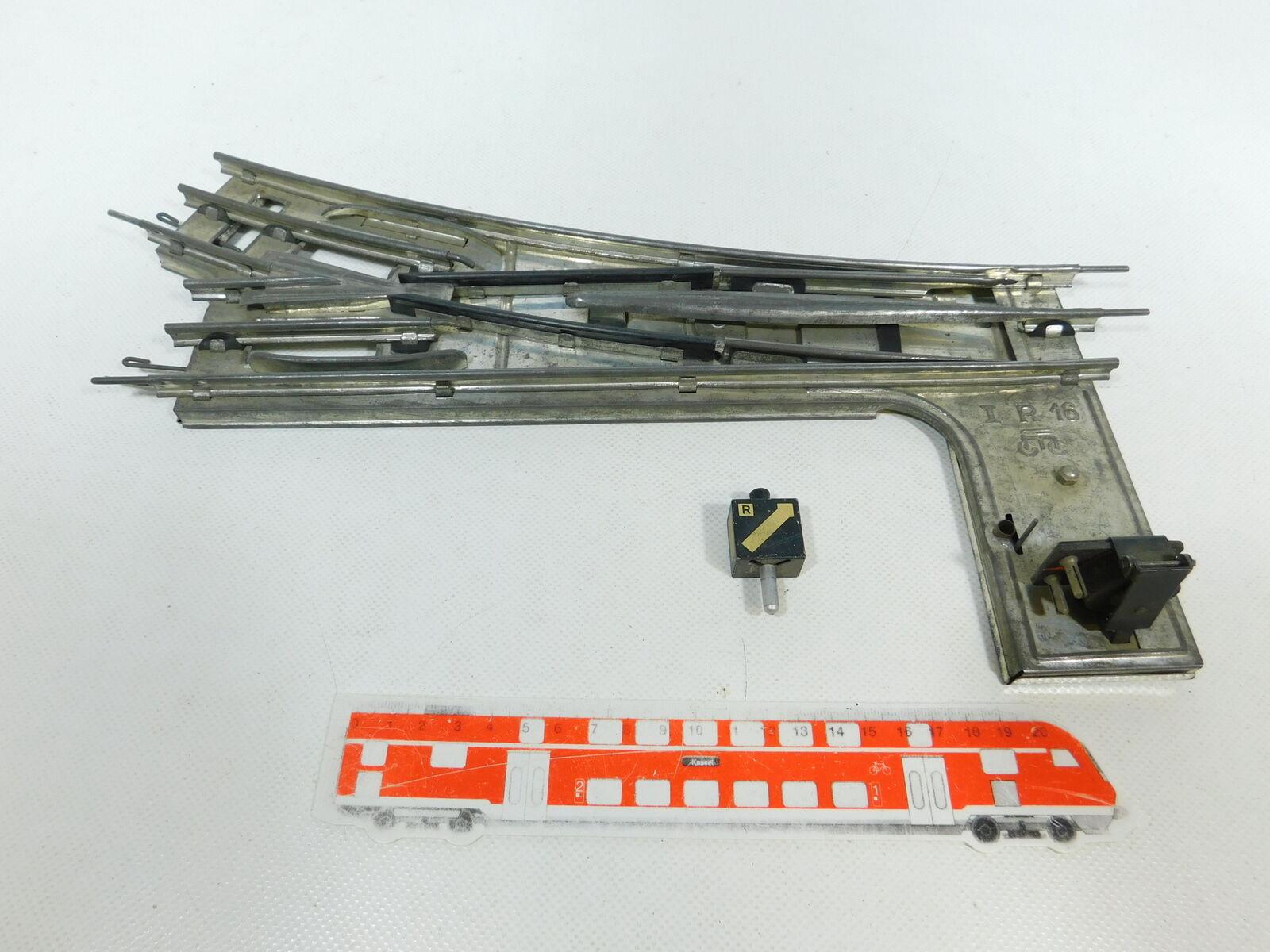 BW19-1  Märklin Spur 1 E-Weiche rechts 16er 16 er Kreis für elektrischen Betrieb