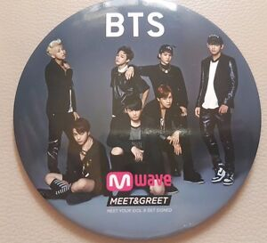 Bts dark and wild mwave exclusive badge meet and greet rare ebay image is loading bts dark and wild mwave exclusive badge meet m4hsunfo