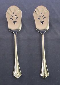 Oneida-Stainless-Flatware-WESTGATE-Pastry-Dessert-Servers-SET-OF-TWO