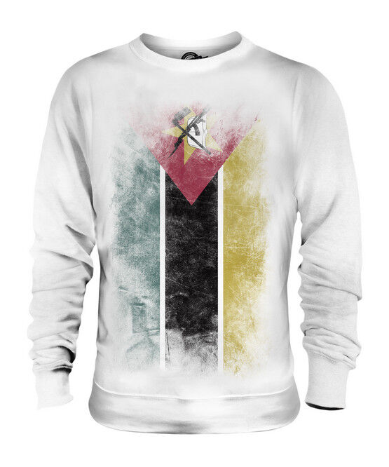 MOZAMBIQUE FADED FLAG UNISEX SWEATER TOP MOÇAMBIQUE FOOTBALL MOZAMBICAN SHIRT