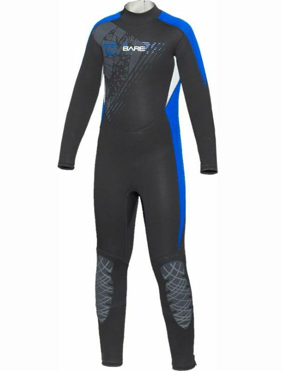 BARE 3 2mm Youth Manta Full Wetsuit -  bluee  wholesape cheap