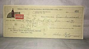 Tell-City-Coca-Cola-Coke-Bottling-Co-Check-652-December-22-1948