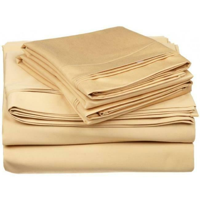 Egyptian Cotton 650 Thread Count Solid Sheet Set Full-gold
