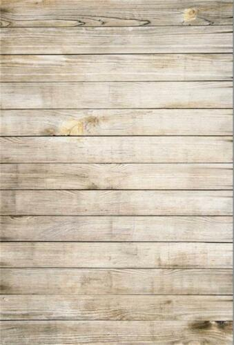 New Wood Wall Vinyl Studio Props Backdrop Kid Photography Photo Background 5x7ft