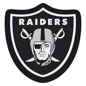 Oakland Raiders Mascot Decorative Logo Cut Area Rug Floor