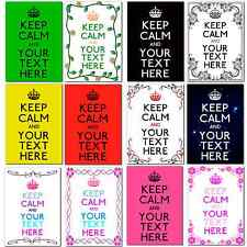 "Large A4 Personalised Keep Calm and ""Add your own Text"" Poster Birthday Gift"