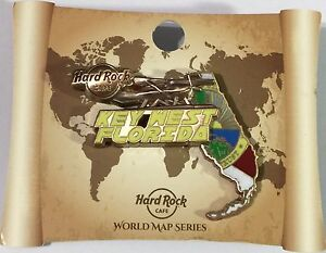 Hard rock cafe key west fl 2017 3 d world map series pin new with image is loading hard rock cafe key west fl 2017 3 gumiabroncs Image collections