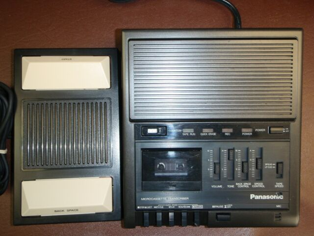Panasonic RR930 microcassette transcriber with foot pedal & warranty