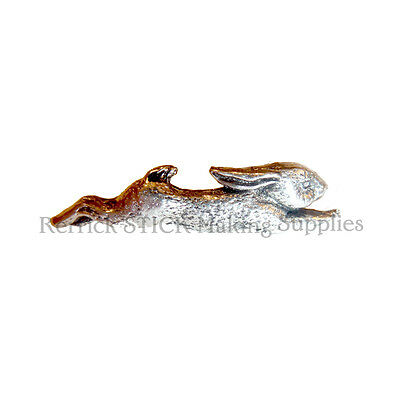 ONE PEWTER BADGE FOR WALKING STICK MAKING SMALL RUNNING RABBIT