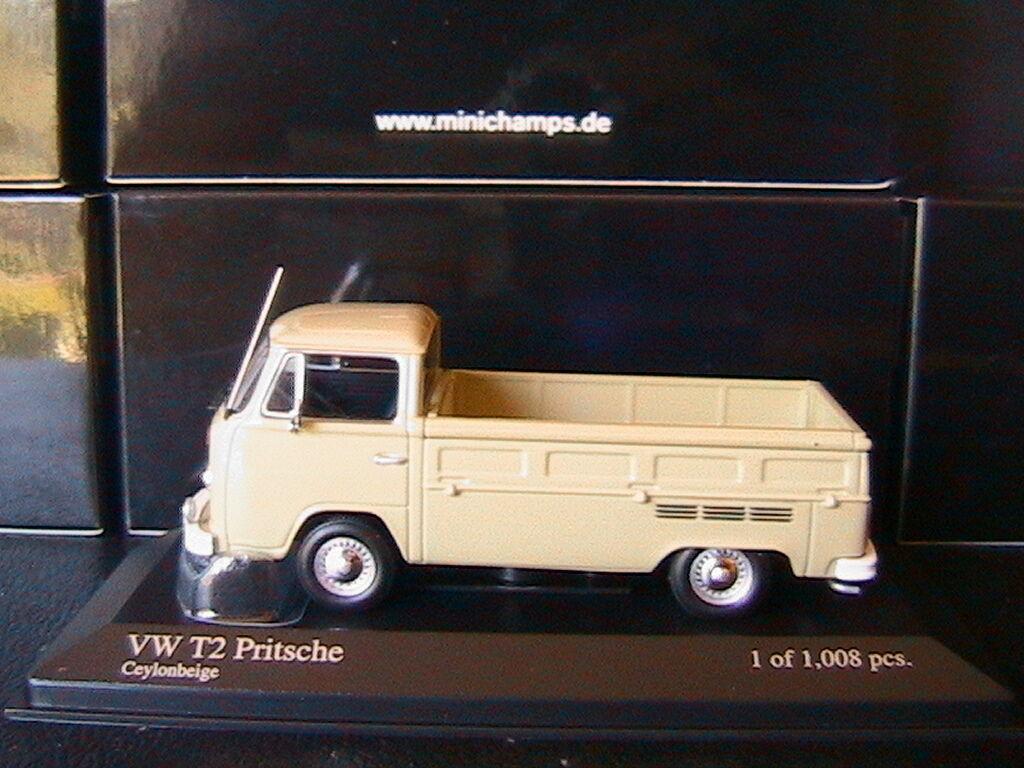 VW VOLKSWAGEN T2 T2 T2 PRITSCHENWAGEN 1972 CEYLONBEIGE MINICHAMPS 400053204 1 43 07a22c