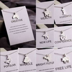 Fashion-Animal-Zodiac-Alloy-Clavicle-Pendant-Short-Necklace-Silver-Jewelry-Gift