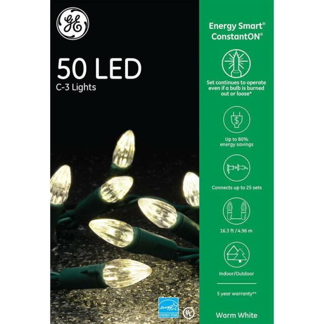 Home Accents Holiday 300 L Led Smooth Mini Light Multi: GE EnergySmart Colorite 50-Light LED Multi-Color C3 For