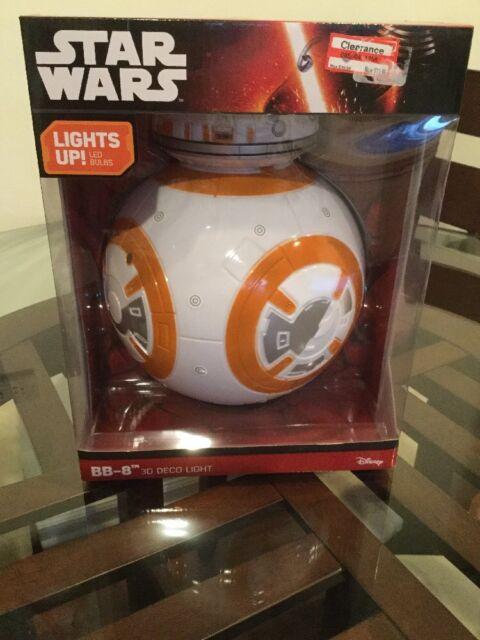 Star Wars Force Awakens BB-8 DROID 3D Wall Deco LED Light. New in Box.
