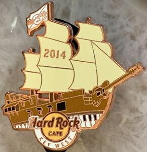Hard-Rock-Cafe-KEY-WEST-2014-Pirate-Ship-Copper-PIN-Guitar-7-Keyboard-HRC-78782