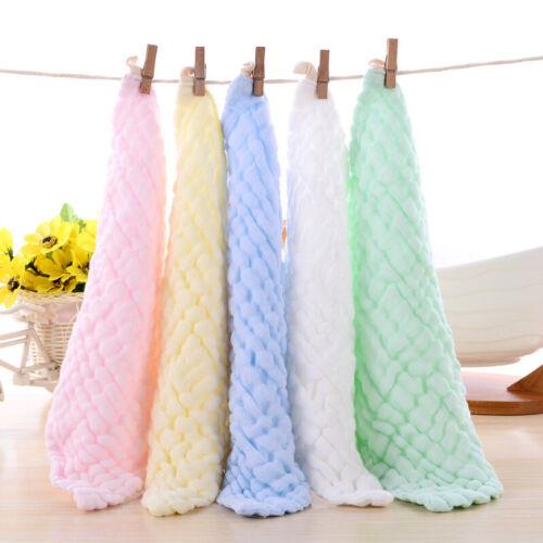 Weich Baumwolle Baby Neugeborenen Handtuch Waschlappen Gesicht wiederverwendbar
