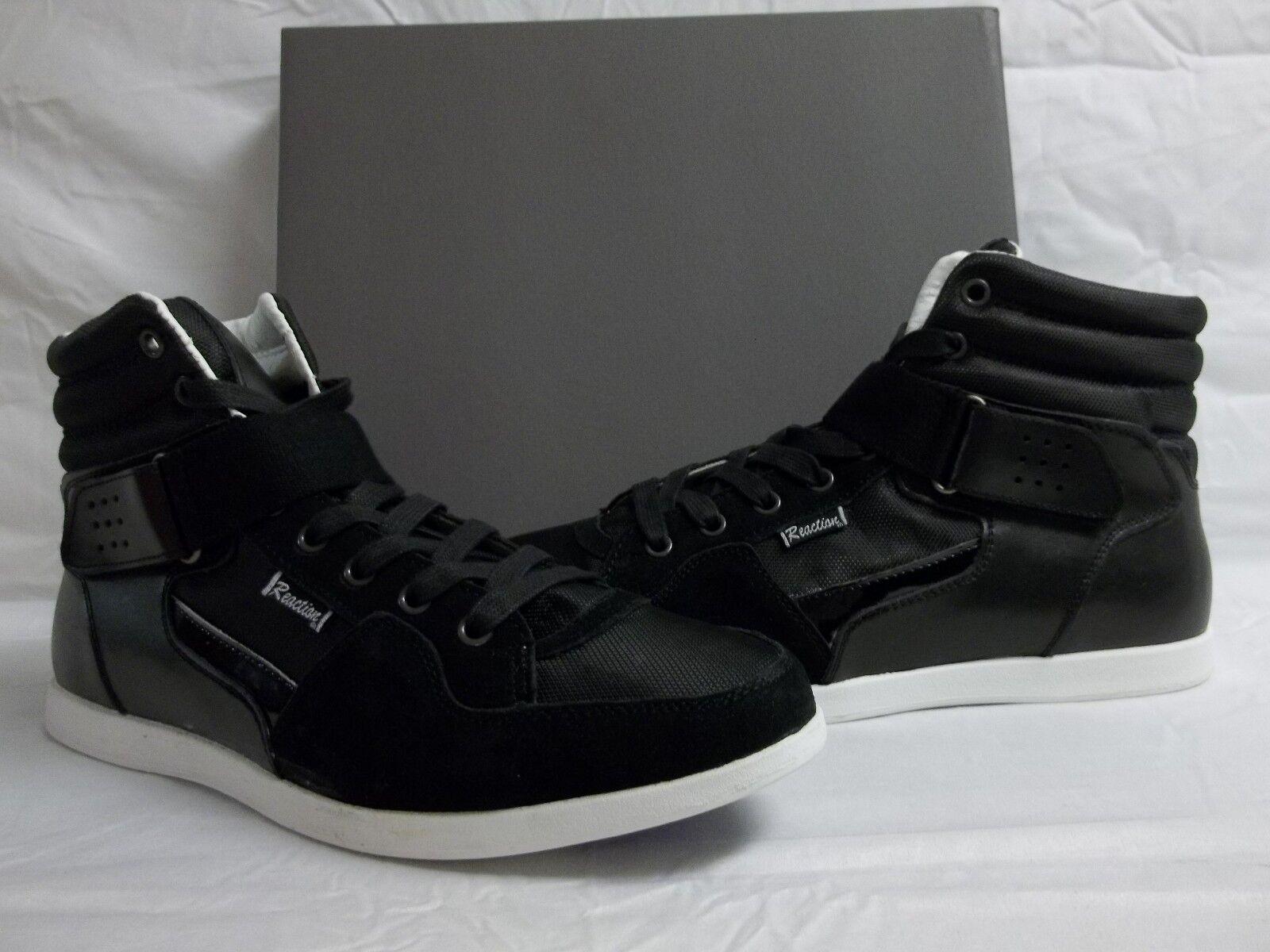 Kenneth Cole Reaction tamaño 9.5 M Brillante Negro Cuero Moda Nuevo Para Hombre Zapatos