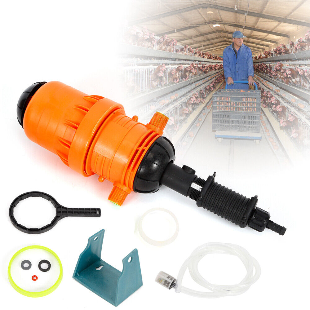 1PCS New Fertilizer Injector Dispenser Proportioner Dosing Device 4℃-30℃ 0.4%-4%