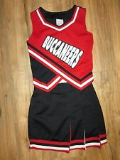 "BUCCANEERS Real High School Cheerleader Uniform Cheer Outfit 32"" Top 24"" Skirt"