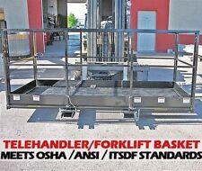 Work Platform Man Baskets For Telehandler Forklifts2000 Lbcapacity4 X 8