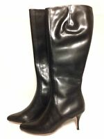 Cole Haan Carlyle Dress Boot Extended Calf 6 M Black Leather With Box