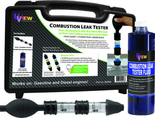 Combustion Leak Tester Tester Kit with dual chamber to accurately verify combus