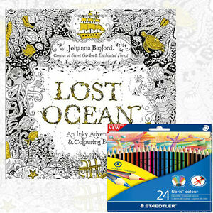 Image Is Loading Johanna Basford Lost Ocean An Inky Adventure Colouring