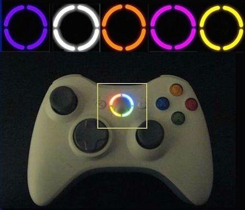 5 XBOX 360 CONTROLLER RING OF LIGHT MOD KIT LIGHTS