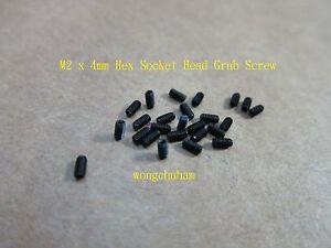 25 Pcs Hex Socket Grub Screw - M2 x 4mm