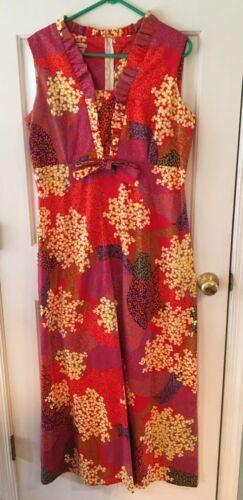 Hawaiian Maxi Dress Vintage 60-70's Size XL EUC