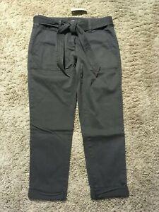 NWT-69-50-ANN-TAYLOR-LOFT-Gray-Relaxed-UTILITY-PANTS-size-2P-2-Petite-NEW-K99