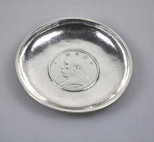 Asia Antique Chinese Dollar Export Silver Yuan Shih Kai Coin Plate China Luen Wo 1914