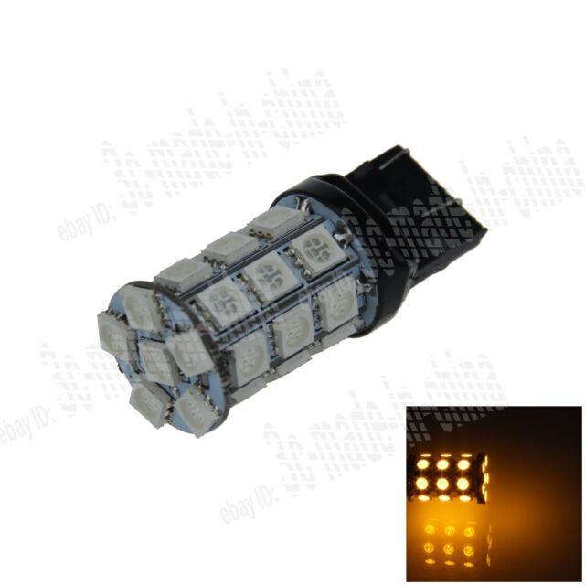 1X Yellow 7443 7440 27 5050 SMD LED Brake Turn Signal Rear Light Bulb Lamp G004