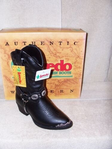 Laredo LC2200 Dingo DIC2200 Childrens Black Fashion Boots Harness Strap NIB