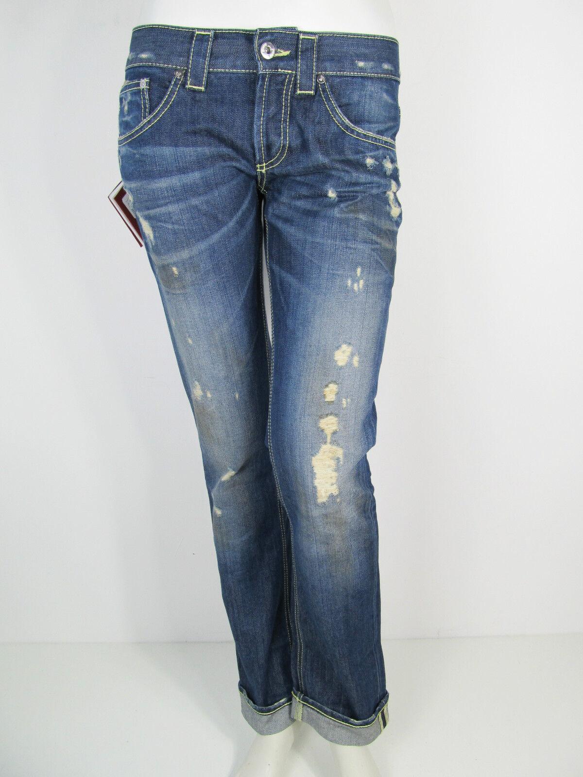Dondup Hose Denim Jeans Hose P065Y Glass Cho Oyu Pantalone Blau Neu