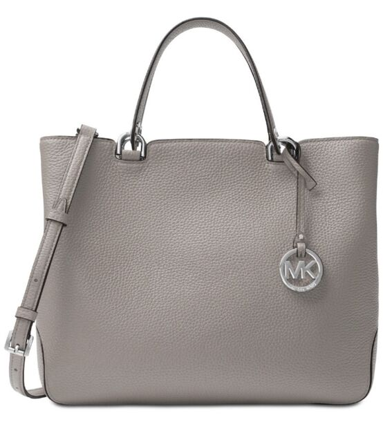 7c6bc09d76bc7a NWT MICHAEL Michael Kors Annabelle Large Top-Zip Tote Pearl Grey MSRP $368