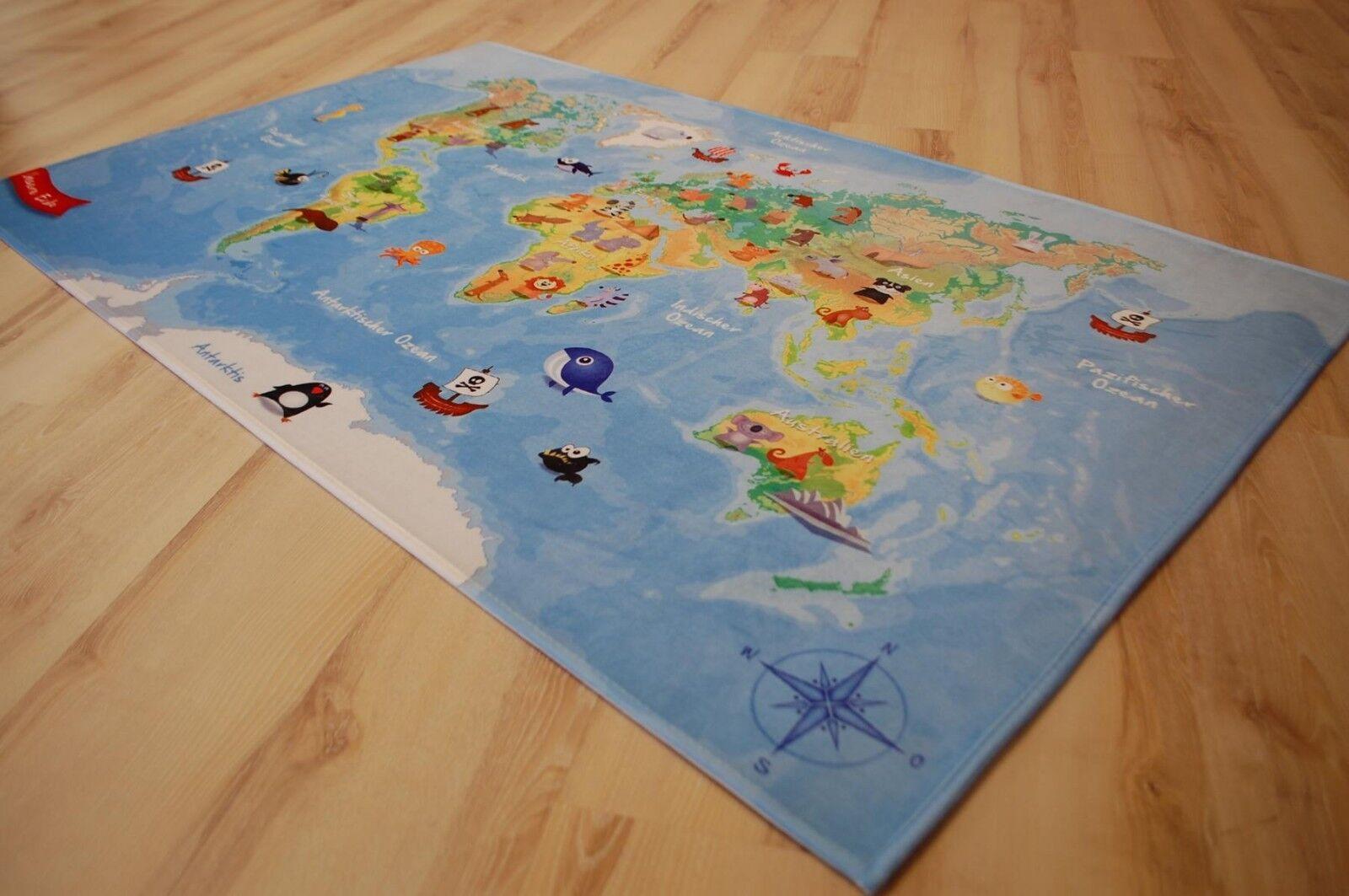 Jeu d'enfant Tapis carte du monde 100x160 cm lk-413 monde notre terre NEUF