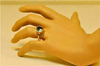 COLOR CHANGE ALEXNDRITE JUNE BIRTHSTONE 18KGOLD PLATED SILVER LADIES RING #MW801
