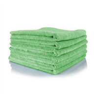 12 Lime Irregular Microfiber Towels Cleaning Plush 16x16 300 Gsm Lintfree on Sale
