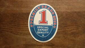 OLD-AUSTRALIAN-BEER-LABEL-1950s-SWAN-BREWERY-PERTH-PREMIERS-BRAND-BEER
