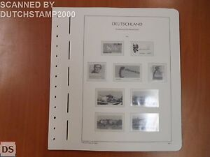Used Lighthouse album pages - Deutsche Bundespost - 2001-2003 (30 pages)