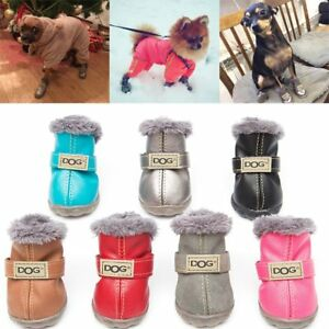 aded277797 4 Waterproof Pet Shoes Winter Dog Cat Snow Boot Warm Puppy Booties ...