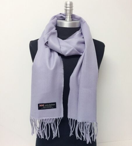 Mens Womens Winter Warm SCOTLAND Made 100/% CASHMERE Scarf Scarves Solid Wool