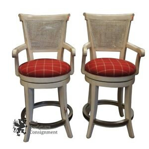Image Is Loading 2 Beautiful Drexel Heritage Barton Counter Stools French