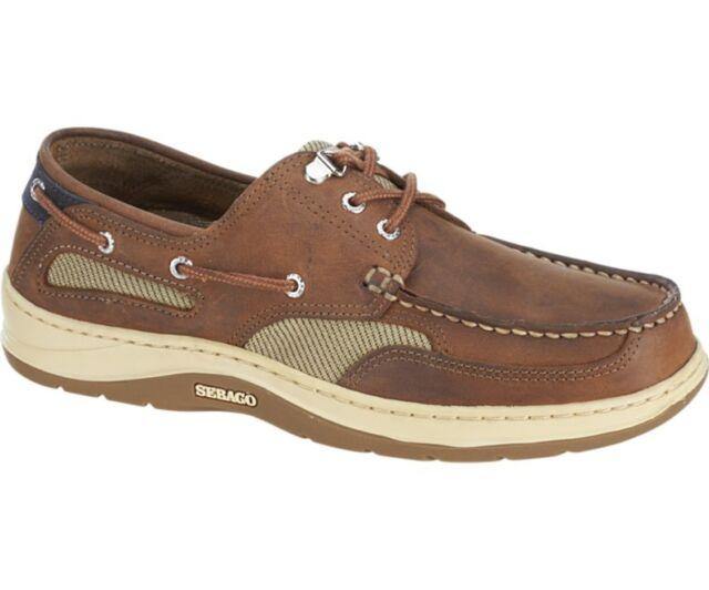 Sebago Clovehitch II Men Boat Shoes Brown Walnut Leather 10.5 UK 45 ... b0848c9ed9