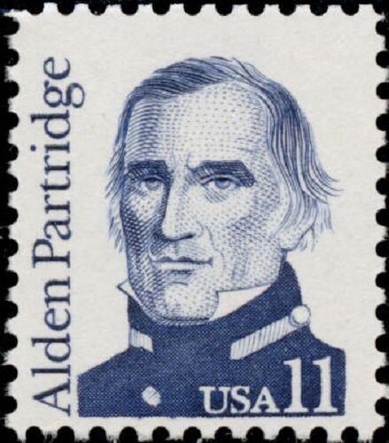 1985 11c Alden Partridge, West Point Scott 1854 Mint F/