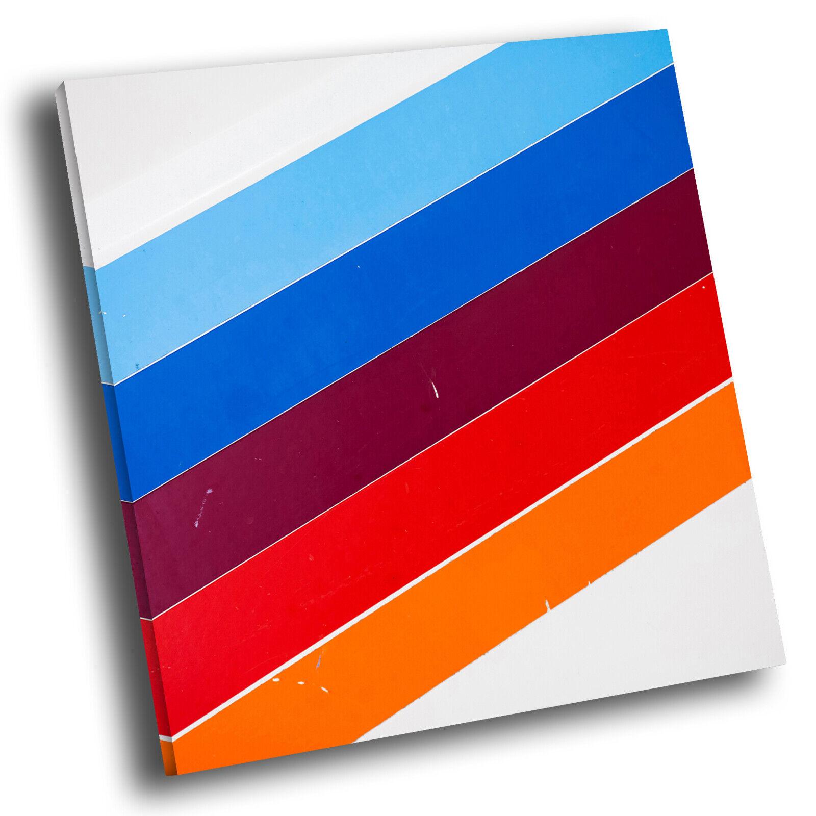 Blau lila Orange Stripe Square Abstract Canvas Wand Kunst Large Bild Druckens