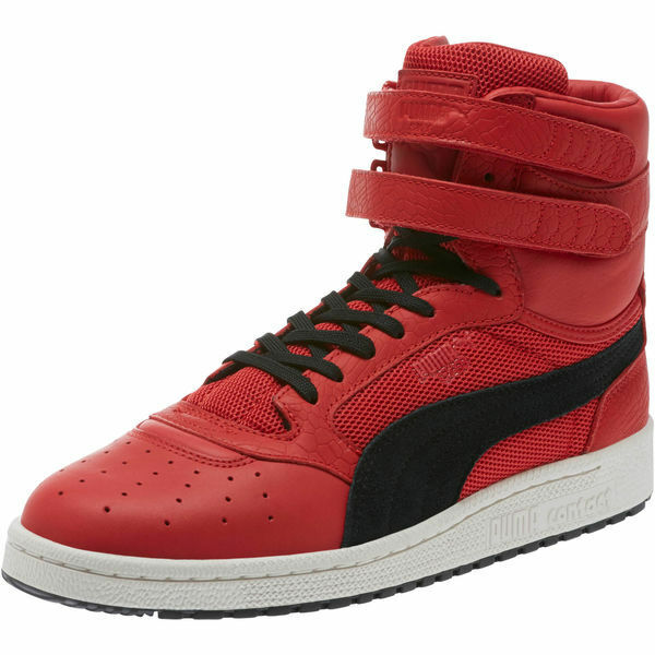 Puma Men's Sky II Hi Colorblocked Leather Toreador-Puma Black 363854 02 New