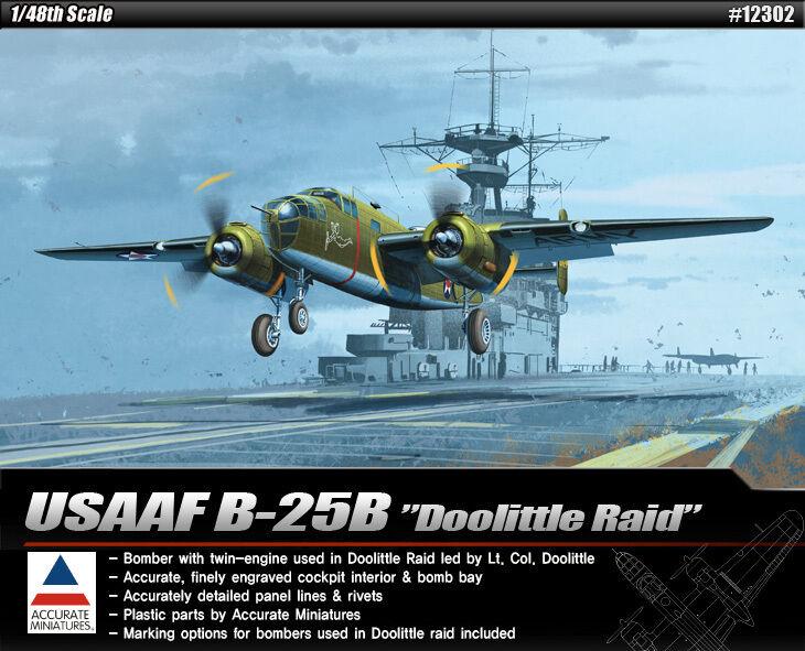 1 48 USAAF B-25B Doolittle Raid  ACADEMY  12302  | Hohe Qualität